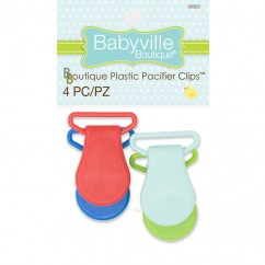 Babyville - Pacifier Clips - Red/Blue