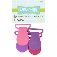 Babyville - Pacifier Clips - Purple/Pink