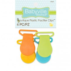 Babyville - Pacifier Clips - Yellow/Orange