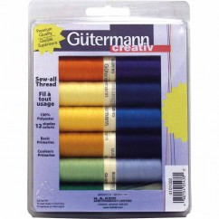 GÜTERMANN 12 pc Sew-All 100m Thread Set - Primary Colours