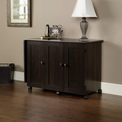 Sauder Sewing & Crafting Table - Cinnamon Cherry
