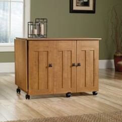 Sauder Sewing & Crafting Table - Amber Pine