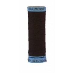 GÜTERMANN Silk Thread 100m Dark Brown