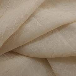 Home Decor Fabric  - Crushed sheer - Almond