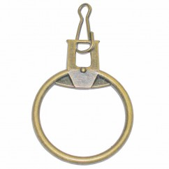 COSTUMAKERS Ring Zipper Pull With Hook - Gold