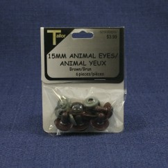 Animal Eyes 15mm - Brown