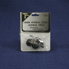 Animal Eyes 18mm - Brown