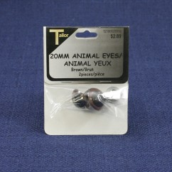 Animal Eyes 20mm - Brown