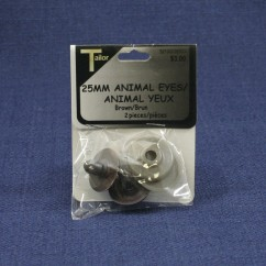 Animal Eyes 25mm - Brown