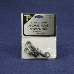 Animal Nose 11mm x 15mm - Black