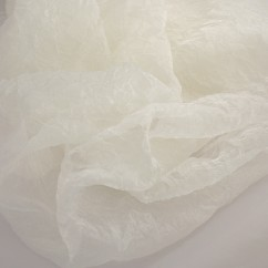 Home décor fabric - Crushed organza - Cream