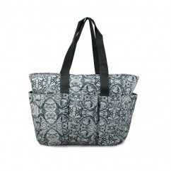 Fabric bag - Grey floral print