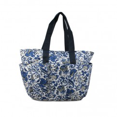 Fabric bag - Navy floral print