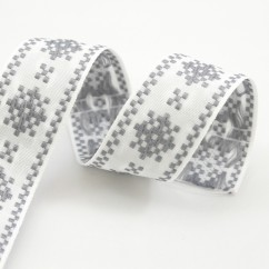 Nordic Trim with Snowflake - 38mm - Grey