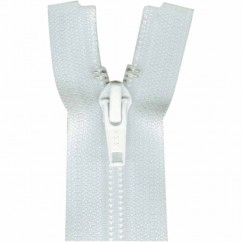 "COSTUMAKERS Activewear One Way Separating Zipper 23cm (9"") - White - 1760"