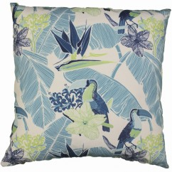 Indoor/Outdoor Cushion - Parrot - Turquoise - 18 x 18''