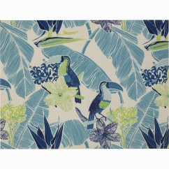 Placemat - Parrot - Turquoise - 18 x 13''