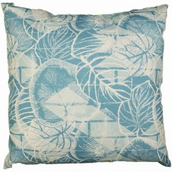 Indoor/Outdoor Cushion - Leaf - Turquoise - 18 x 18''