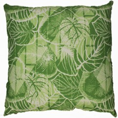 Indoor/Outdoor Cushion - Leaf - Lime - 18 x 18''