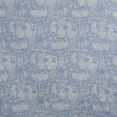 Home Decor Fabric - Animal crackers - Blue
