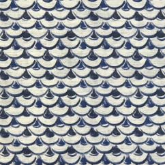 Home Decor Fabric - Global Chic - Ming scales - Blue