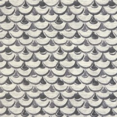 Home Decor Fabric - Global Chic - Ming scales - Grey