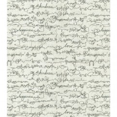Home Decor Fabric - Ellen Degeneres - Love script - Charcoal