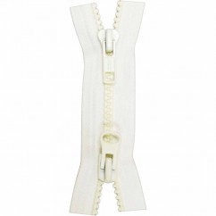 "COSTUMAKERS Activewear Two Way Separating Zipper 55cm (22"") - White - 1765"