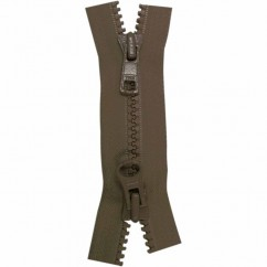 "COSTUMAKERS Activewear Two Way Separating Zipper 55cm (22"") - Sept. Brown - 1765"