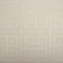 Tablecloth Fabric - Wide-width - Greek key Natural