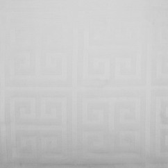 Tablecloth Fabric - Wide-width - Greek key White