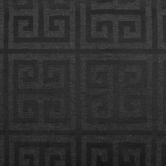Tablecloth Fabric - Wide-width - Greek key Black