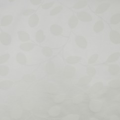 Tablecloth Fabric - Wide-width - Leaf - Off white