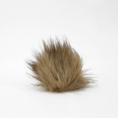 FAUX FUR POMPOM - 4 inch - Latte mix