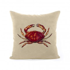 Decorative cushion cover - Tapestries - Crab - Beige - 18 x 18''