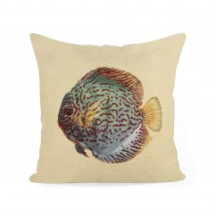 Decorative cushion cover - Tapestries - Fish 1 - Beige - 18 x 18''