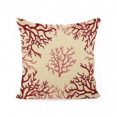Decorative cushion cover - Tapestries - Coral - Beige - 18 x 18''