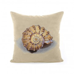 Decorative cushion cover - Tapestries - Shell - Beige - 18 x 18''