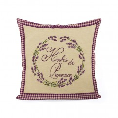 Decorative cushion cover - Tapestries - Herbe de Provence - Beige - 18 x 18''