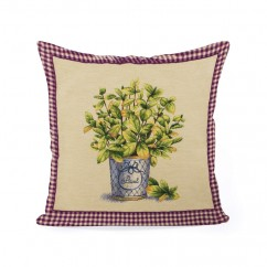Decorative cushion cover - Tapestries - Basil - Beige - 18 x 18''