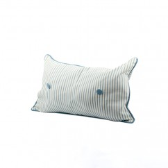 Decorative cushion cover - Luana stripe - Blue - 12 x 20''