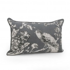 Decorative cushion cover - Keiko - Grey - 12 x 20''