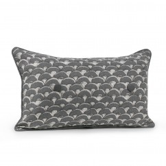 Decorative cushion cover - Kimiko - Grey - 12 x 20''