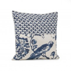 Decorative cushion cover - Kimiko - Blue - 20 x 20''
