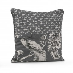 Decorative cushion cover - Kimiko - Grey - 20 x 20''