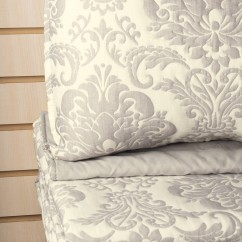 Penelope - 3 pc Jacquard Quilt set - Grey