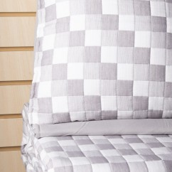 Madison - 3 pc Jacquard Quilt set - Grey