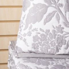 Felicity - 3 pc Jacquard Quilt set - Grey