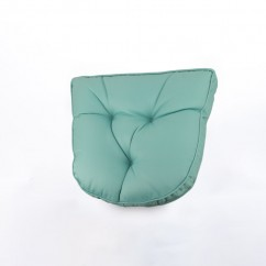 Indoor/Outdoor chair pad cushion - Solid - Aqua - 19.5 x 19.5 x 2.7''