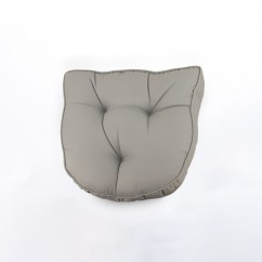 Indoor/Outdoor chair pad cushion - Solid - Grey - 19.5 x 19.5 x 2.7''
